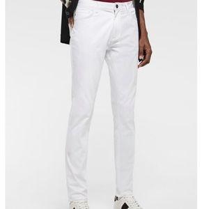 NWOT Zara Men's White Skinny Pants